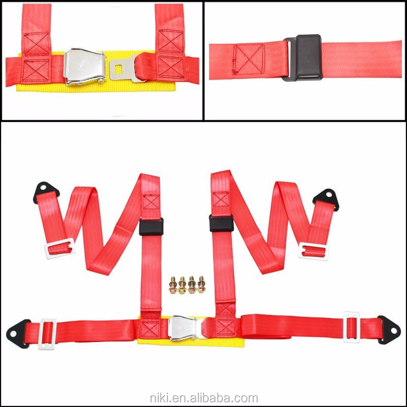 "Seat Belts Style Competition 4 Point Snap-In 2"" Seat Belt Racing Harness safety belt seat harness with Camlock"