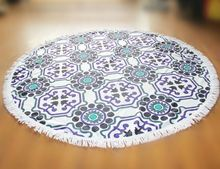 Good performance standard size 2016 hot sale round towel mandala