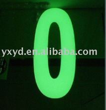 glow in the dark plastic plate/board/sheet
