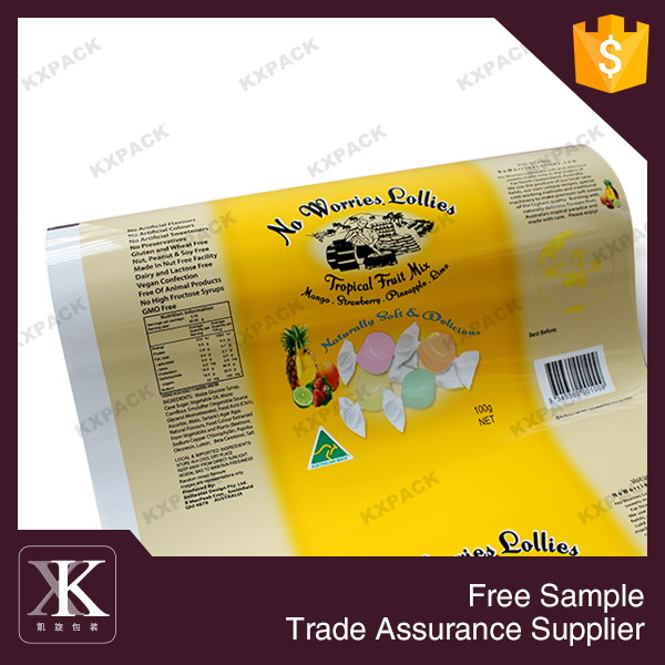 Glossy Customized Printed Pure Aluminium Candy Roll Film