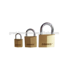 Brass padlock with master <strong>key</strong>
