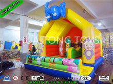 Elephant design inflatable bouncers with jumping castle blower