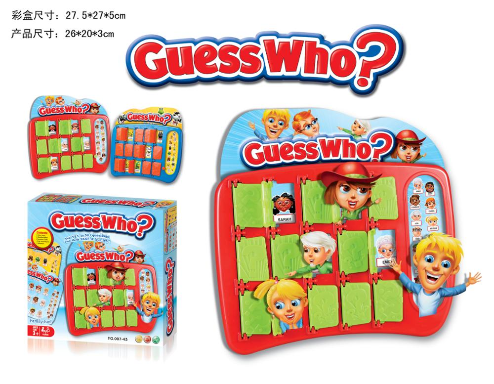 Funny intelligent guess chess who i am chess game toys for kids