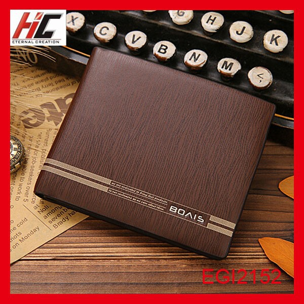 2015 new fashion casual faux wood pattern short men's wallets express alibaba china