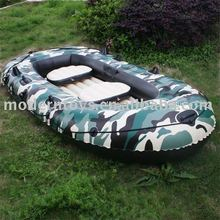 Pass EN-71 Camouflage PVC Sports Boat for Two Persons,All-in-one Service for Export
