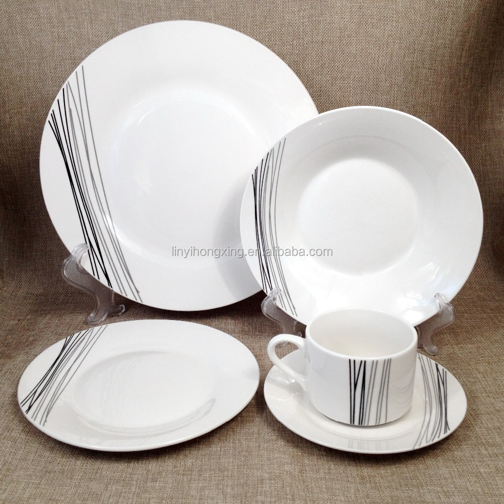 home and garden round shape porcelain dinner set 20pcs tableware