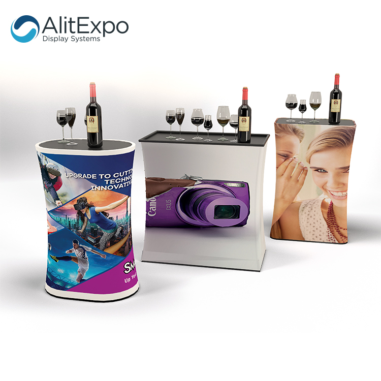 trade show exhibition promotion tension fabric podium booth counter