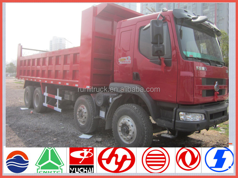 China brand new dongfeng chenglong 12 -wheel 40ton dump truck for sale in holland