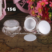 60*15g High-grade Cosmetic packing box trial sample emulsion bottle hand cream jar