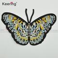 hot sale personalized big 3D textile indian embroidery patch butterfly