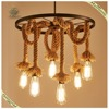 Home indoor decorative lighting hanging hemp rope pendant light