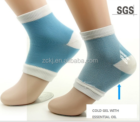 Spa soft Moisturing gel heel socks, Dry Cracked Heel Socks, Heel Protection Socks