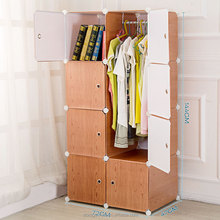 Discount cheap price bedroom furniture plastic wardrobe for clothes