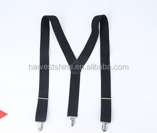 Hot style customize color suspenders with leather for men