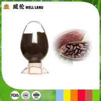 Cocoa shell and beans extract natural cocoa powder pigment