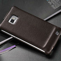 New stylish latest elegant hot selling business genuine leather flip phone covers for samsung galaxy s2 i9100,fashioncase for s2
