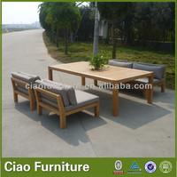 Wholesale outdoor sofa furniture set teak wood furniture