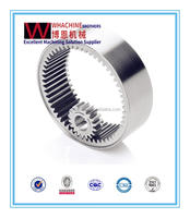 aiks forklift spare parts stainless steel / forging steel ring gear & pinion by WahchineBrothers