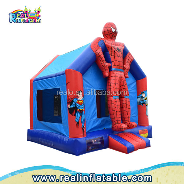 Hot sale Spiderman inflatable bounce house,cheap inflatable bounce houses / castle for kids,used party jumpers for sale