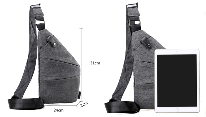 New fashion custom mens crossbody bags outdoor waterproof shoulder sling backpack chest bag