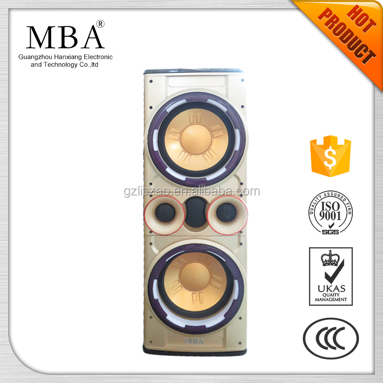 15 inch 12 inch 10 inch 8 inch professional stage active bluetooth loudspeaker, disco LED light rechargeable PA speaker