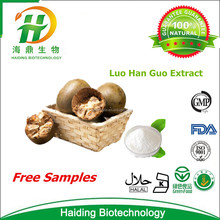 Supply 100% Natural Luo Han Guo Extract Powder Mogroside v 55%