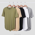 Fashion Summer Men Extended Hip Hop T shirt Oversized Kpop Swag Clothes Men's Casual Streetwear Camisetas