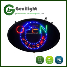 Alibaba Express OPEN LED Sign Full Color Oval LED OPEN Sign Variable OPEN Message LED Sign