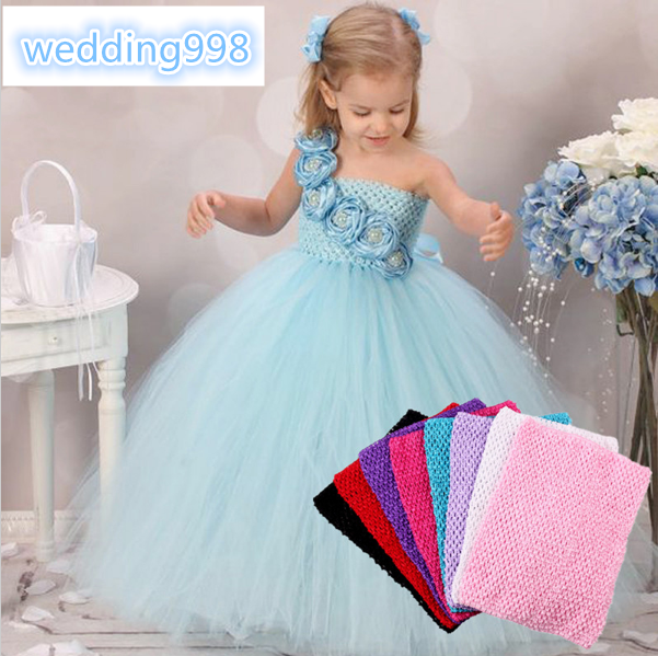 12 24x32cm Tulle Crochet Tutu Top Chest Wrap Tube Diy Sewing Knit