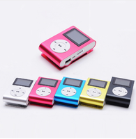New LCD Screen Mini Clip Mp3 Player Electronic Products Sports Metal Mini MP3 Music Player Support 32GB TF Card Mar21