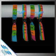 Great sale promotional custom festival plastic lock wristband & fabric woven wristband