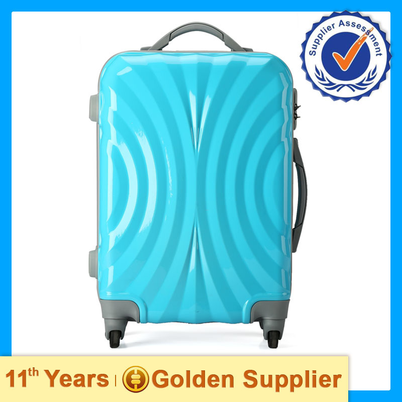 bright color abs travel luggage, travel style luggage bag set