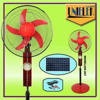 "Low price 16"" air conditioner fan covers 24 LED outdoor solar fan with 1350RPM"