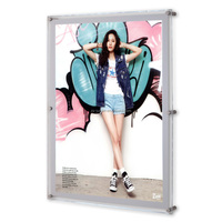 2015 Wall mounted Acrylic picture photo frames with led light