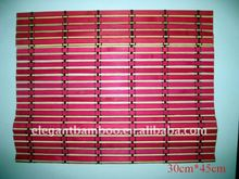 colored bamboo sushi mat(white and red)