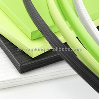furniture decorative wood color table cover pvc edge banding