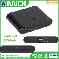 Power Bank 12000mah high capacity power bank, battery charger for smart phone / laptop / camera