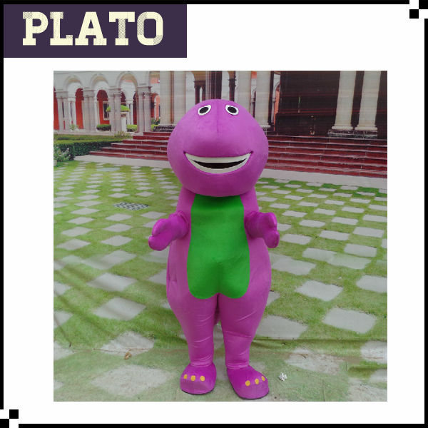 Top sale barney mascot costume, barney the dinosaur costume, adult barney costumes