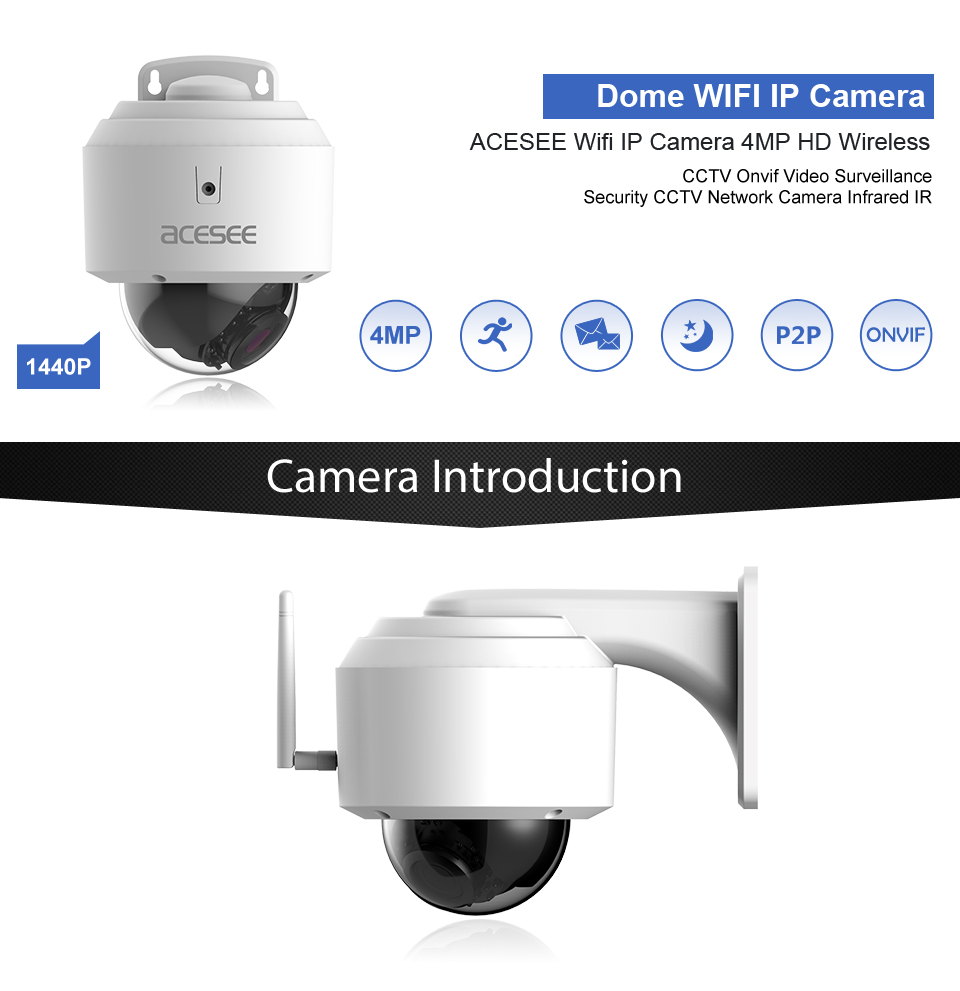Smart Home WIFI 4MP H.265 wireless TF SD card security camera for home security ip camera