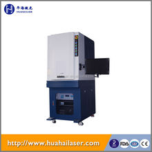 Huahai fiber laser automatic portable electrochemical metal marking machine 50w 30w 20w 10w fiber laser marking machine price