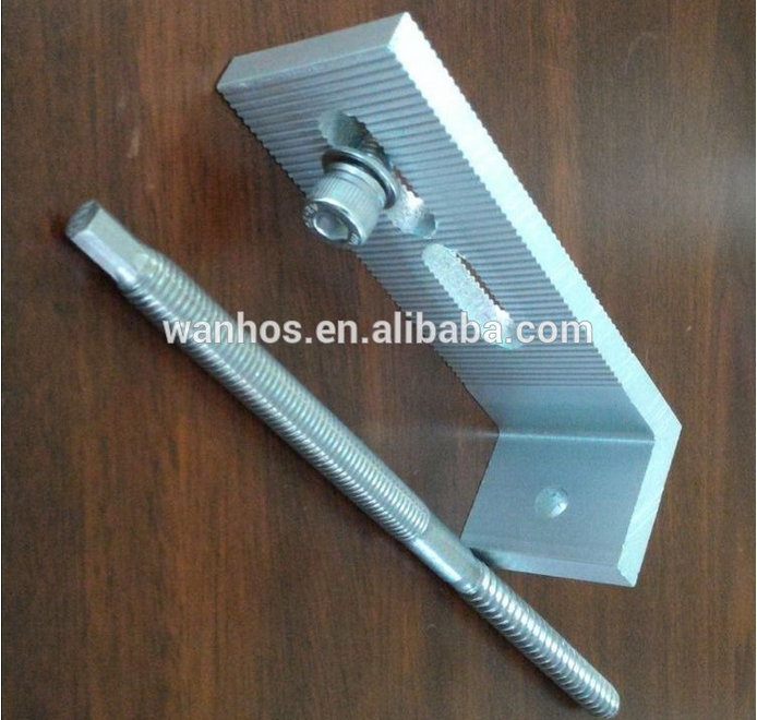 Solar PV Aluminum Tin Roof Hanger Bolts Roof Hook, how to use a hanger bolt