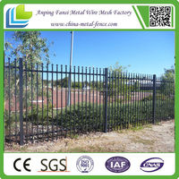 Hot sale zinc powder coated color steel fence/fencing panels Manufacture