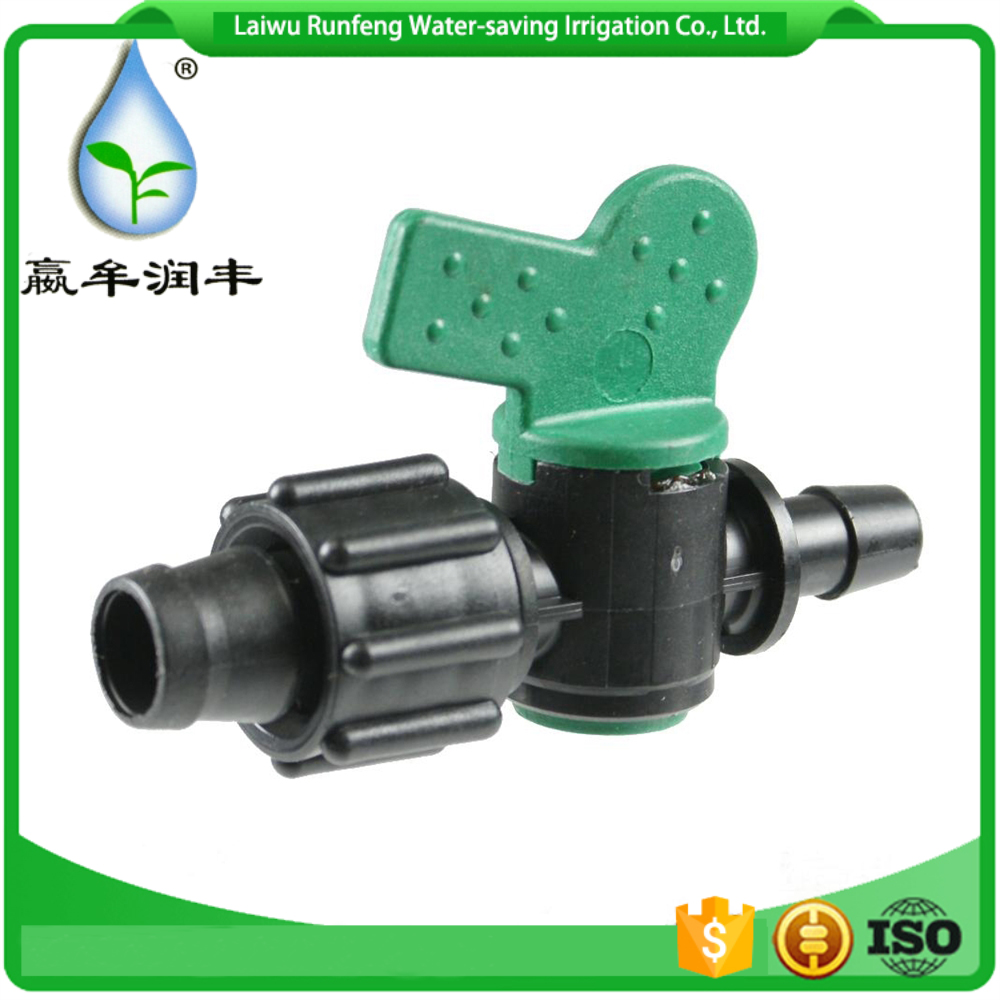 Barbed plastic pipe vales /pipe fitting for micro irrigation system