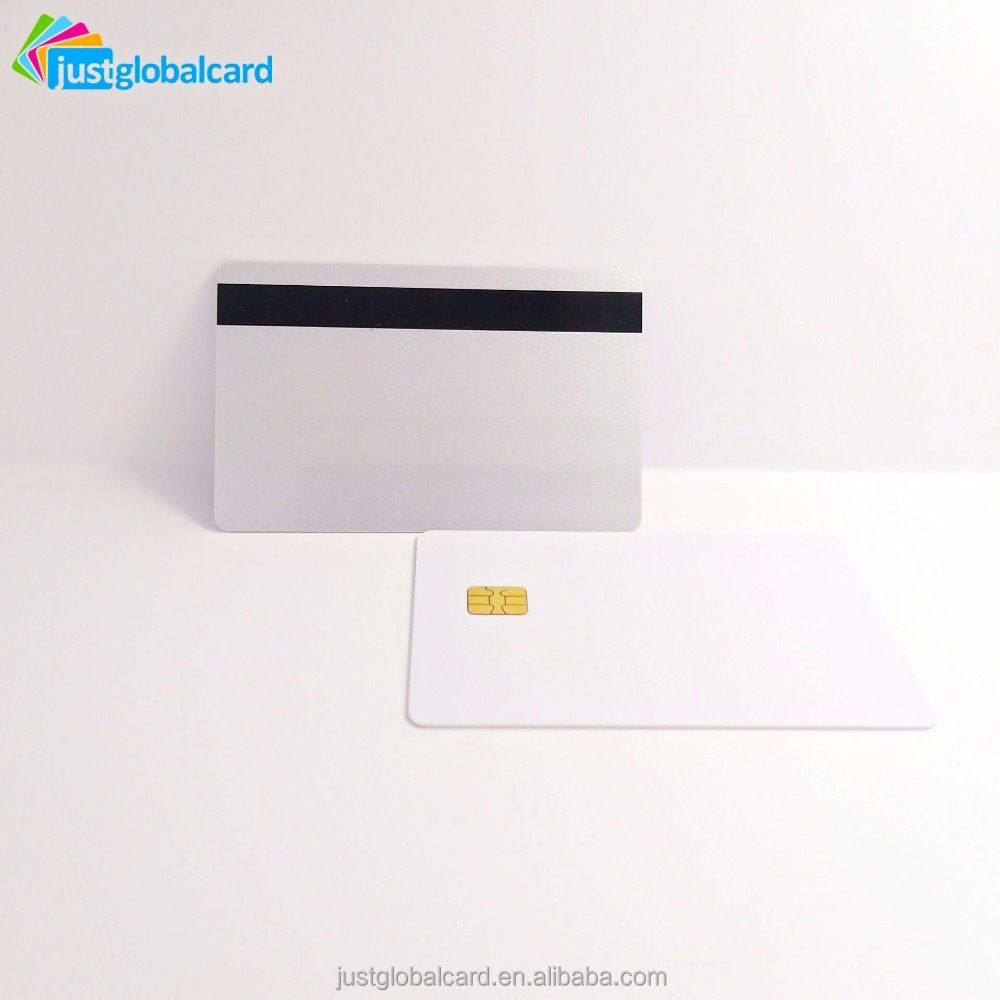 PVC Inkjet SLE4428 Contact blank Smart Card With EMV Chip