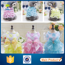 Wholesale pet clothing small dog clothes summer cotton puppy dog dress