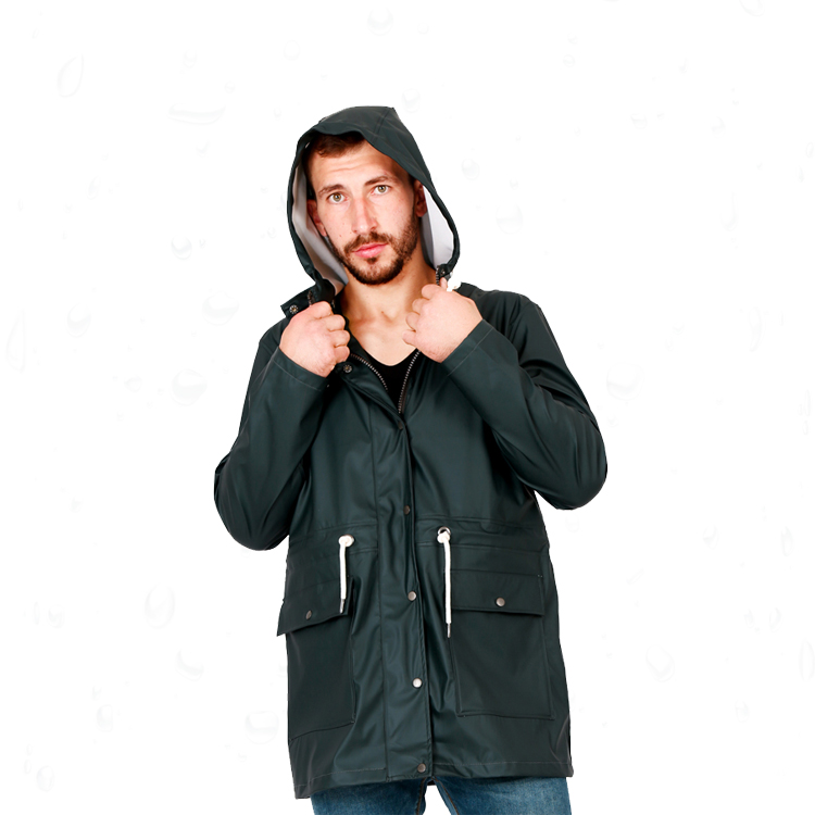 Multi-color optional customrized light black rain jacket
