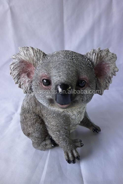 2015 hot-selling Resin animal koala toys , koala bear figurine for home decor