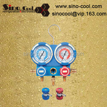 "Aluminium Manifold Gauge Sets with 36"" Charging Hose, Shock-Proof, Brass Valve Body, Customized Types Manifold guage set"