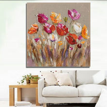 Factory Price 100% Handmade Oil Painting Pictures Of Flowers On Canvas for wall decor