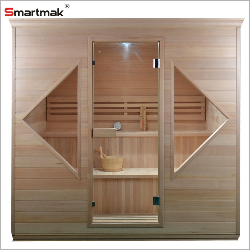 Luxury sauna room steam for 3 persons